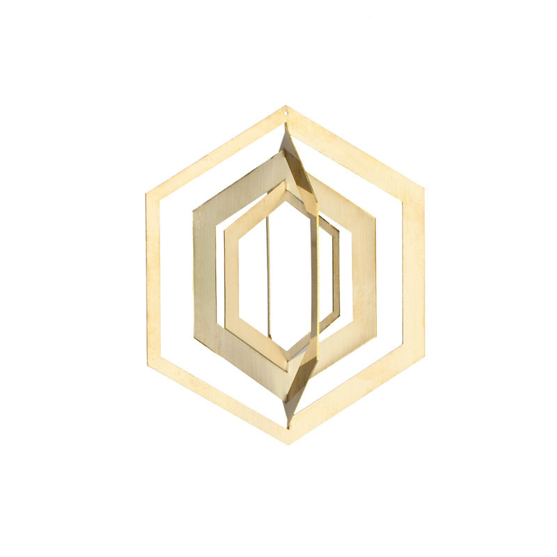Strups hexagon ornament brass