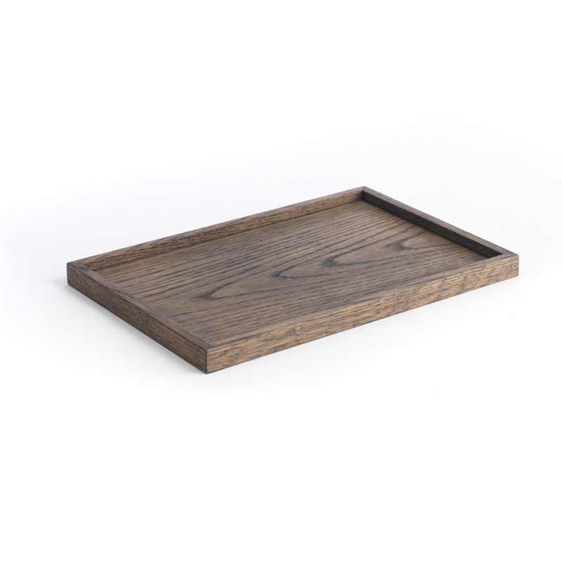 The oak men square tray black oak medium fra The oak men på livingshop