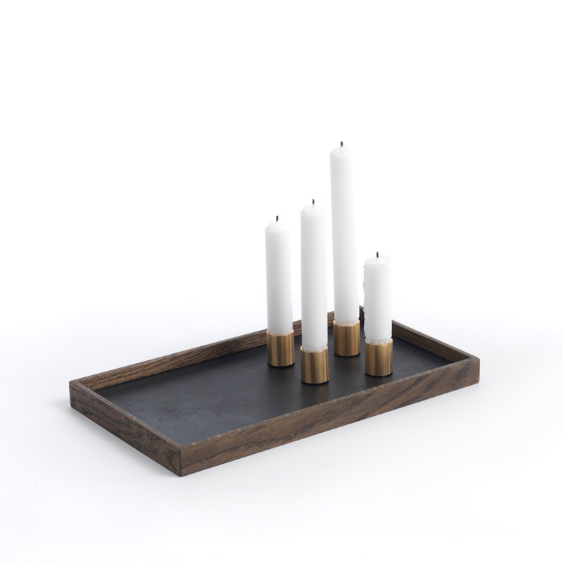 Image of   The Oak Men Candle Tray De Luxe