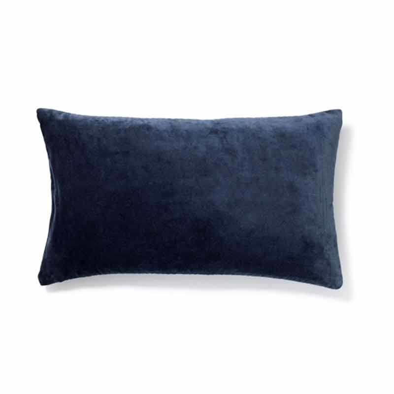 Image of   To BE Living Plain Velour Pude Dark Denim