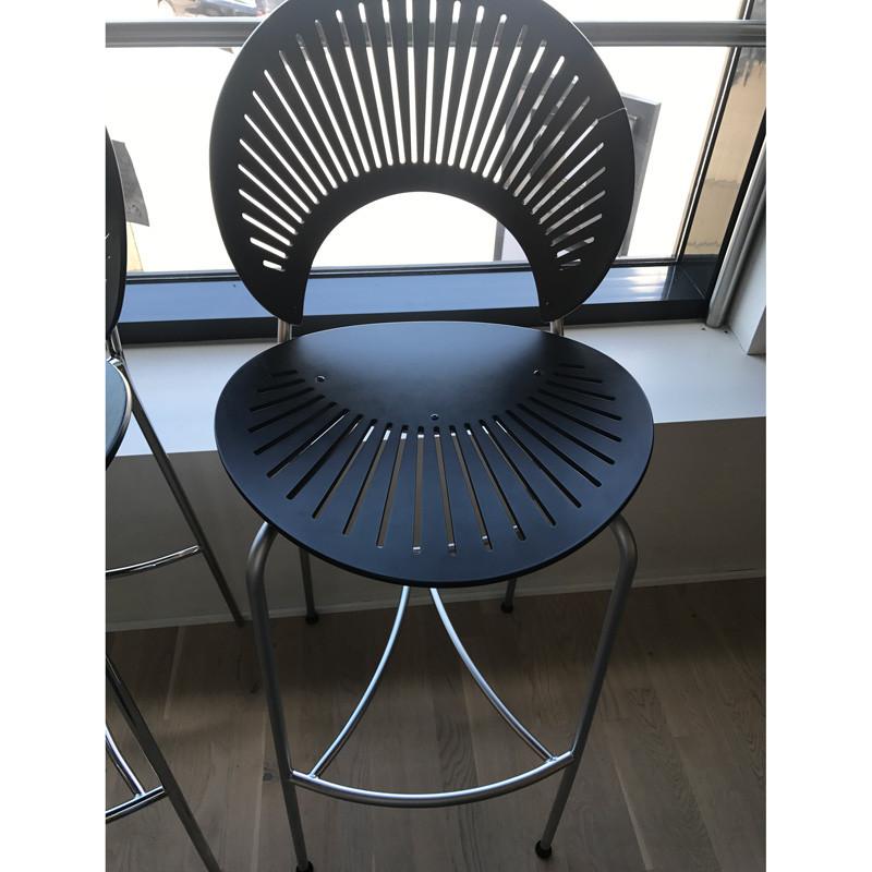 Image of   Fredericia Furniture Barstol Mat Krom Udstillingsmodel