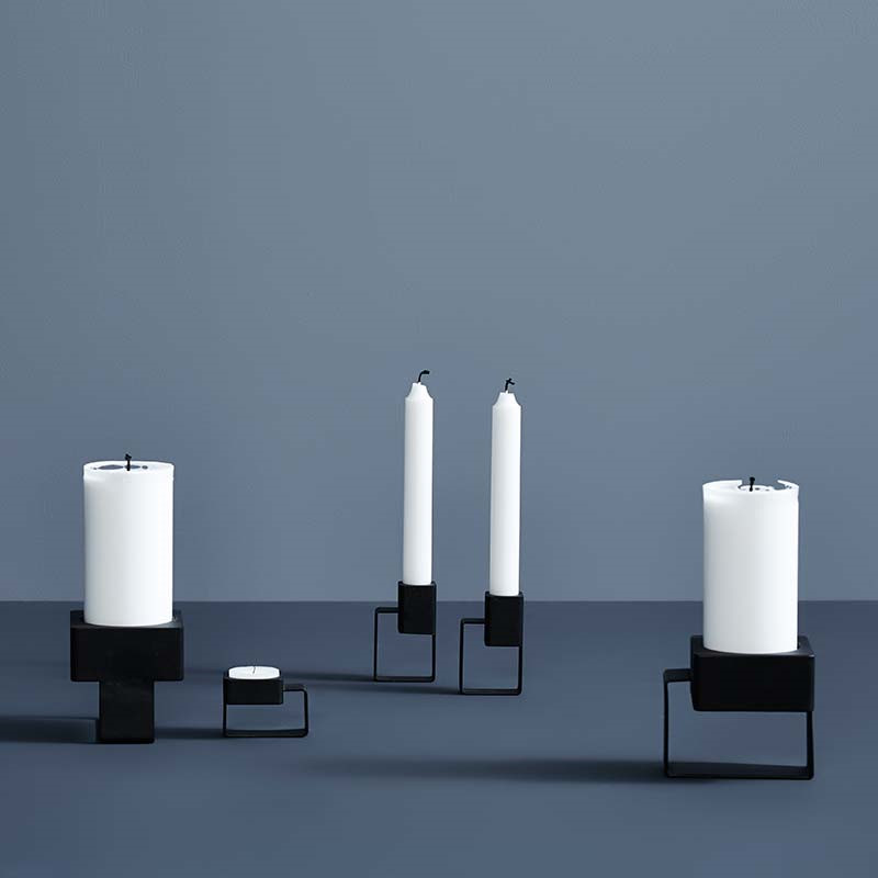Woud tip tap top candle holder