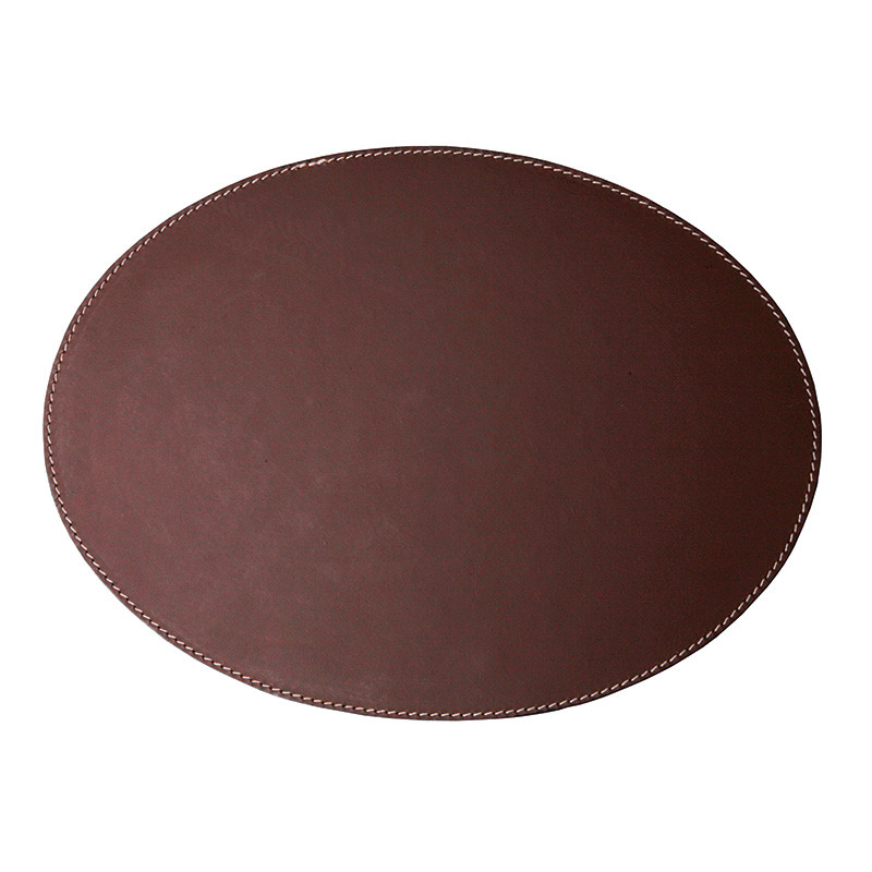 Image of   Ørskov & Co. Leather Placemat Oval Brown