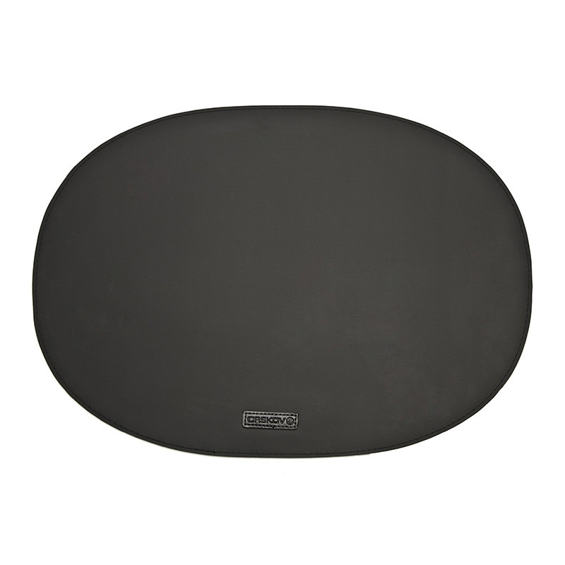 Image of   Ørskov & Co. Rubber Placemat Oval Black