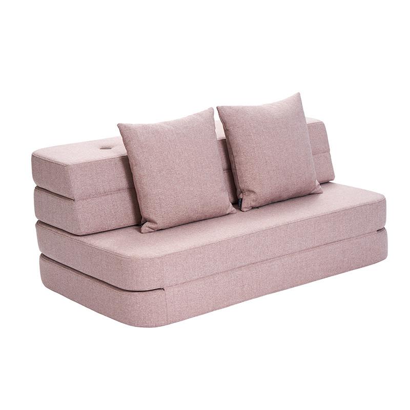 By KlipKlap 3 Fold Sofa Soft Rose W. Rose fra Klipklap