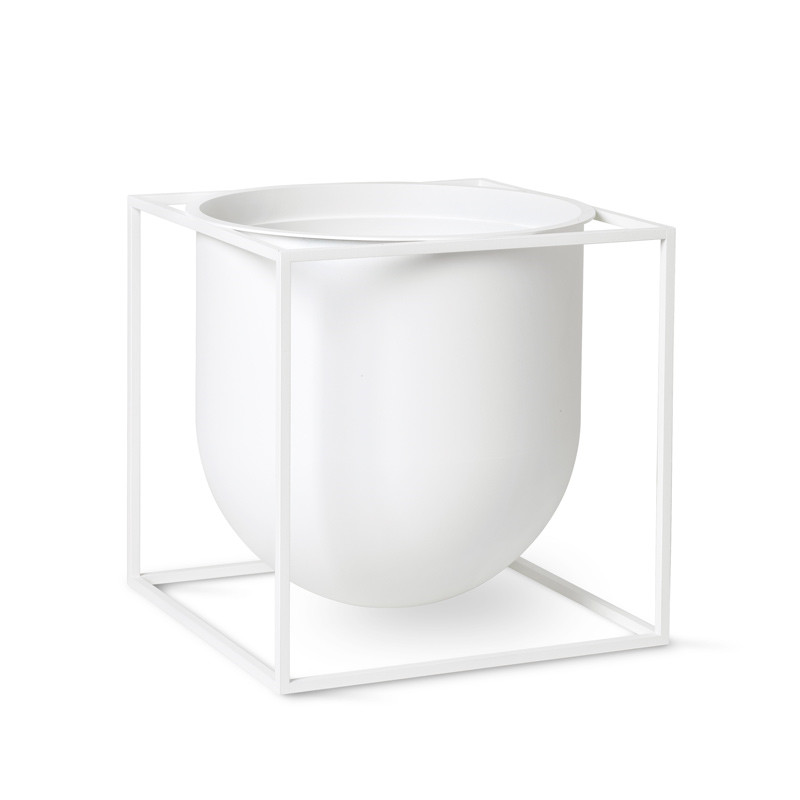 Image of   By Lassen Kubus Flowerpot 23 White