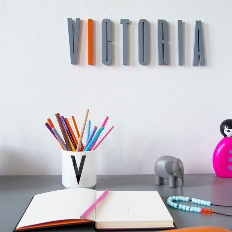 Image of   Design Letters Bogstaver Grå