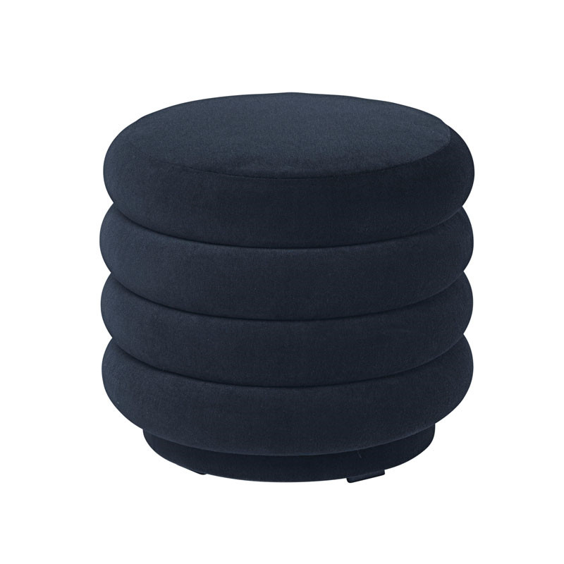 Ferm Living Pouf Round Dark Blue Small fra Ferm Living