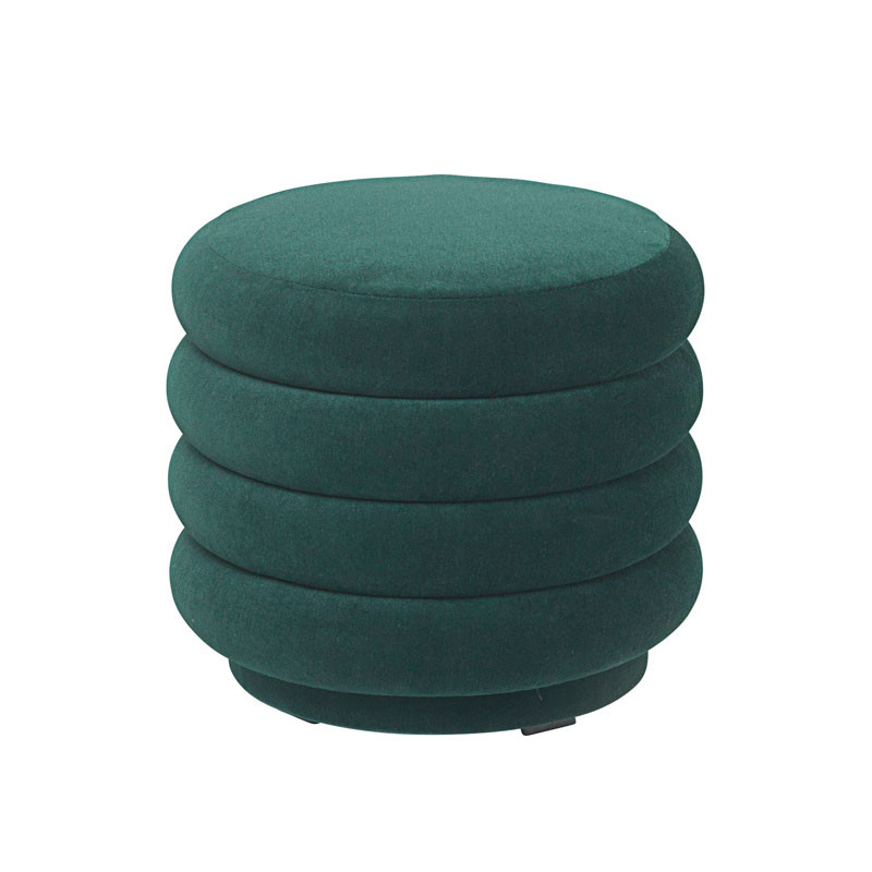 Ferm Living Pouf Round Dark Green Small fra Ferm Living
