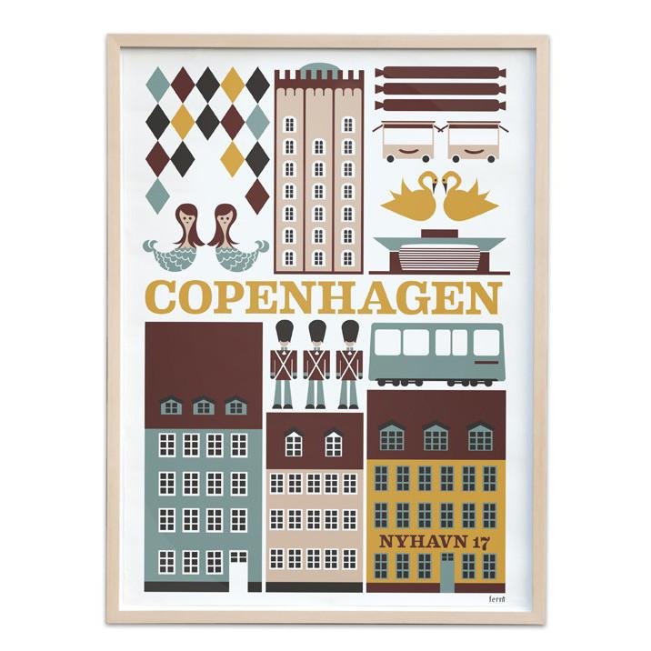 Image of   Ferm Living København Plakat