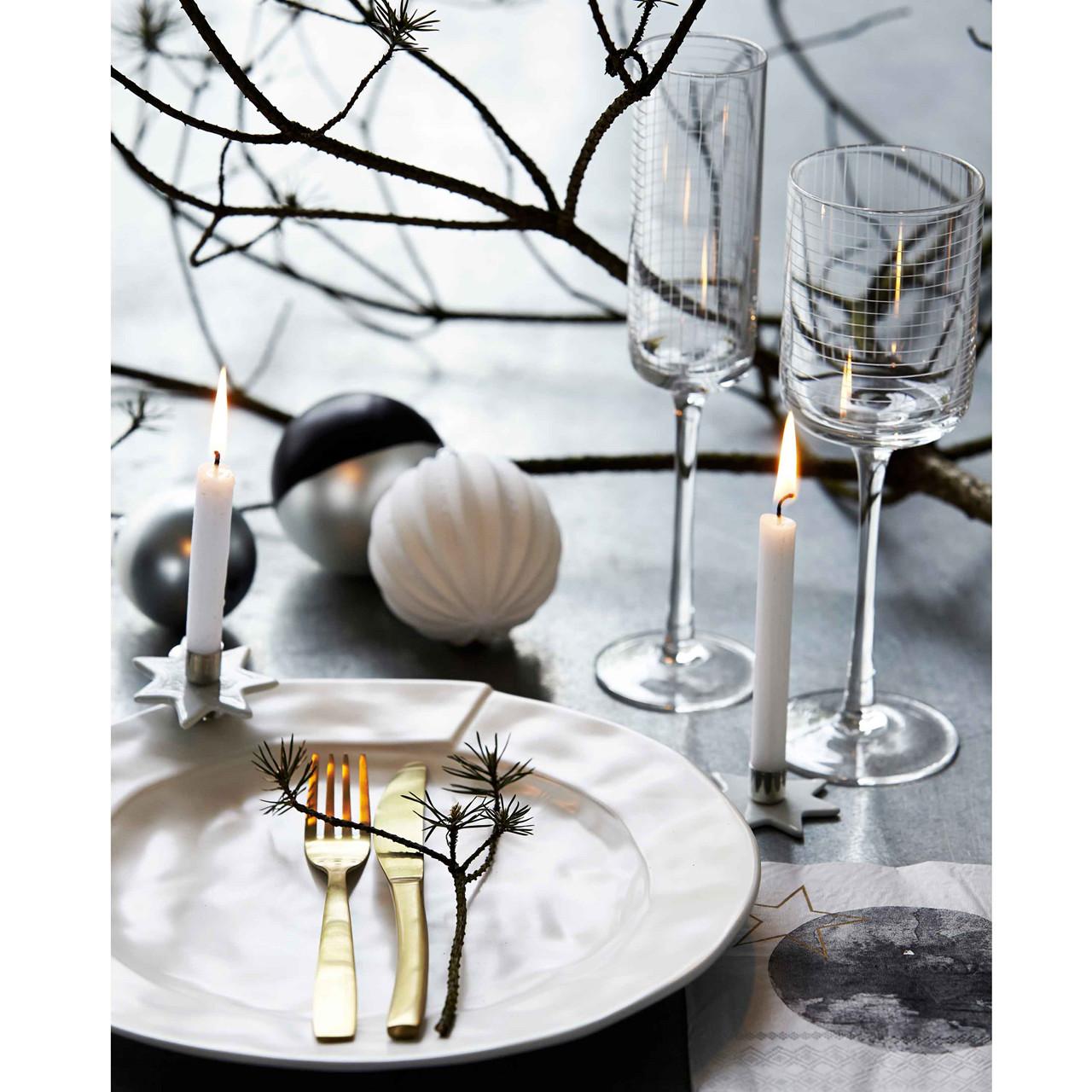 House Doctor Check Champagneglas Livingshop Dk