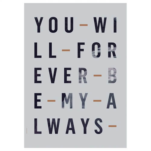 Image of   I Love My Type Forever Always Blue Plakat