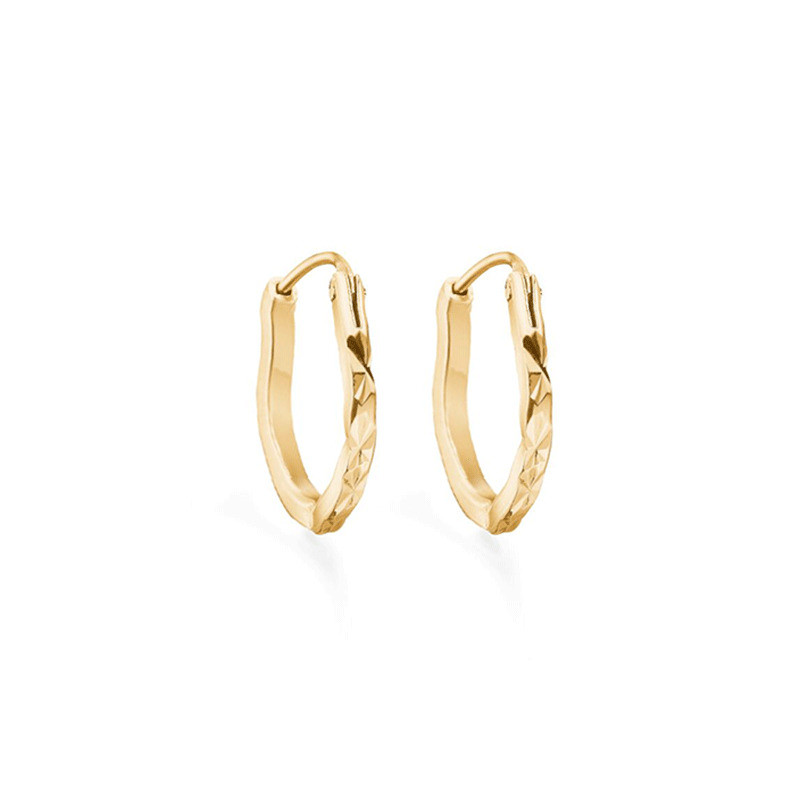 Image of   Enamel Copenhagen Amour Hoops Gold-Plated