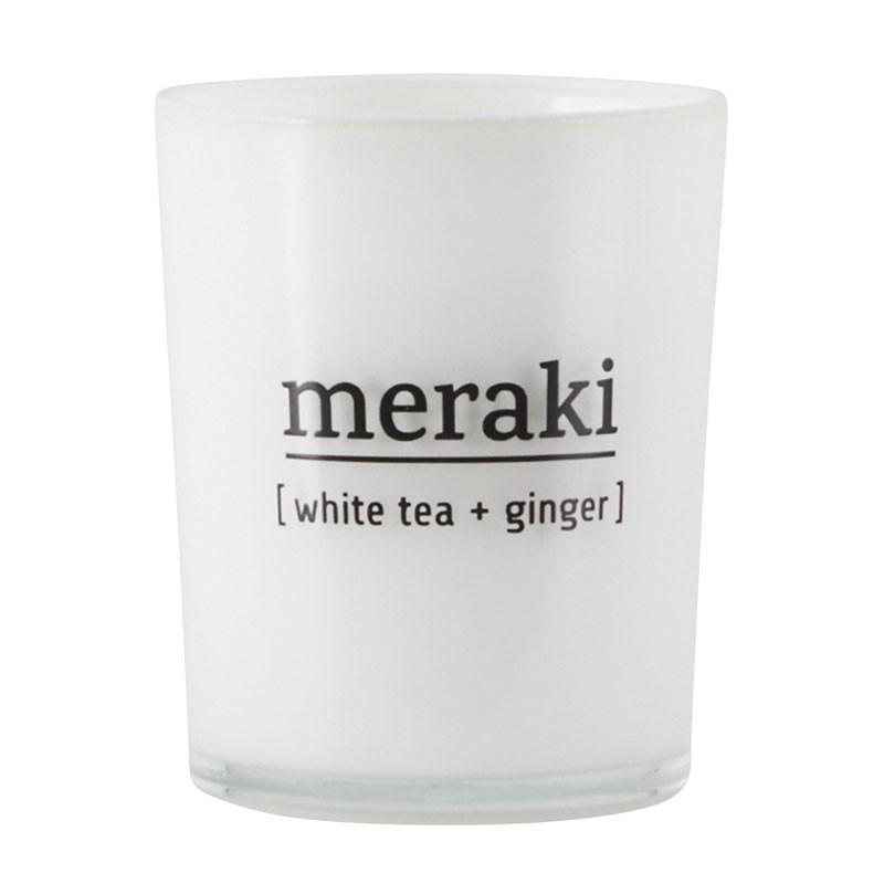 Meraki – Meraki white tea & ginger duftlys på livingshop