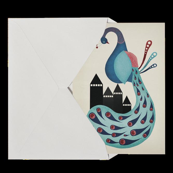 Image of   Michelle Carlslund Peacock Postkort