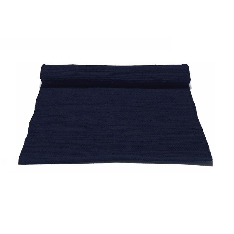 Rug solid deep ocean blue bomuldstæppe