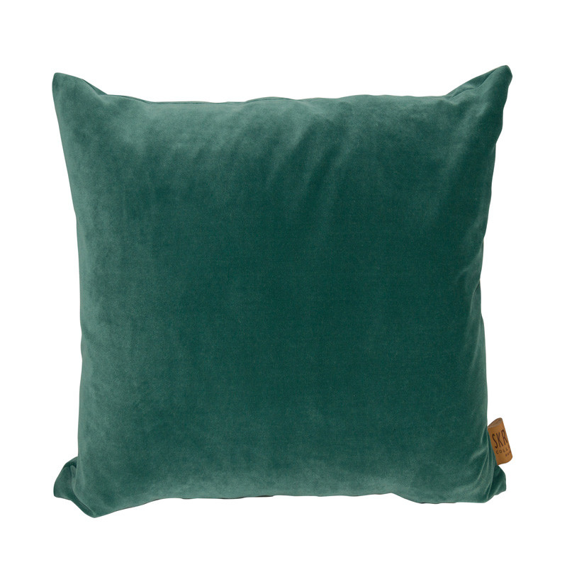 Image of   Skriver Collection City Velvet Cushion Green