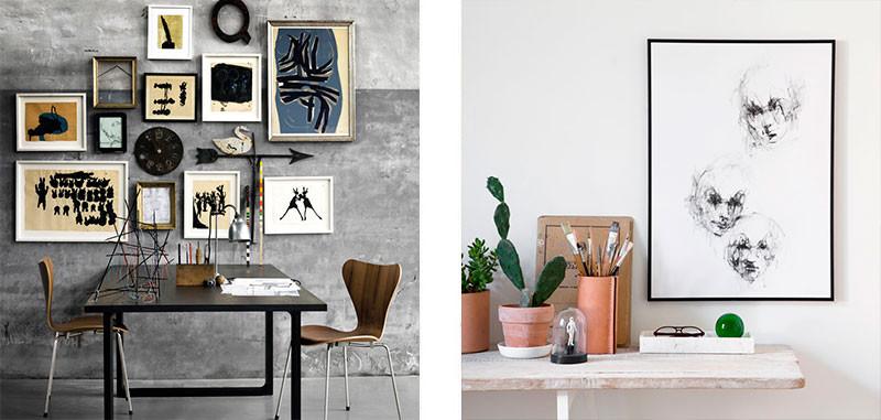 placering af billeder på væg