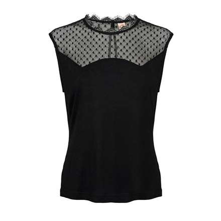 CUSTOMMADE TOP - ROSALI ANTHRACITE BLACK