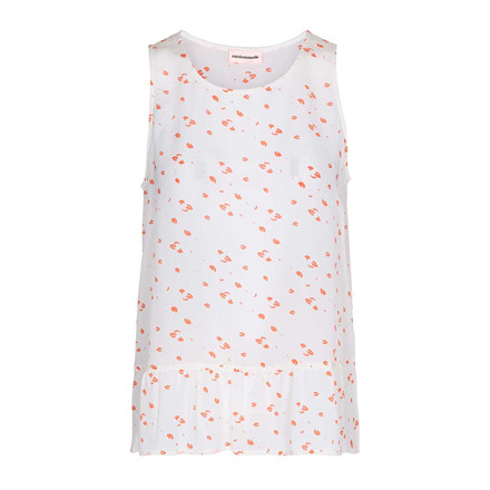 CUSTOMMADE TOP - SAMINE PRINT WHISPER WHITE
