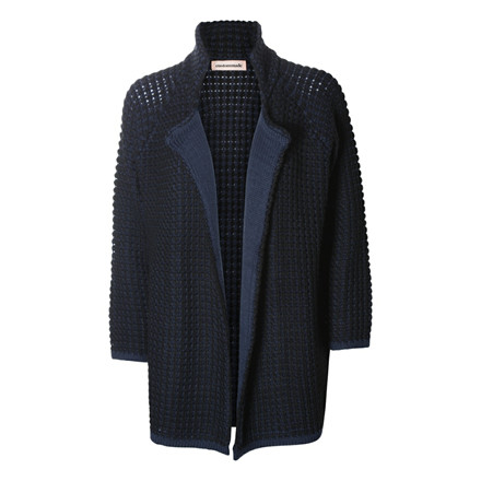CUSTOMMADE CARDIGAN - TEZZA 999 ANTHRACITE BLACK