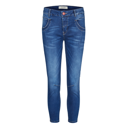 MOS MOSH JEANS - NAOMI SATEEN SPLIT BLUE DENIM