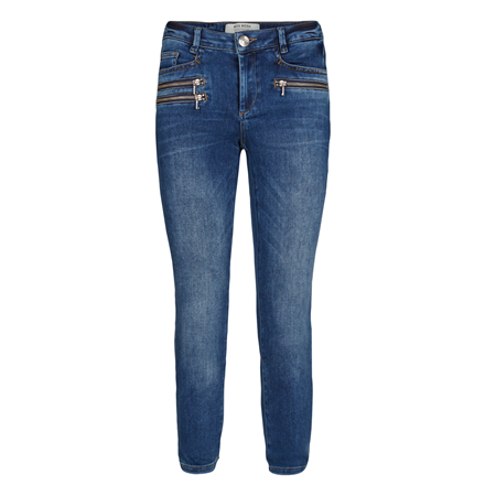 MOS MOS JEANS - BERLIN ZIP 7/8 BLUE DENIM