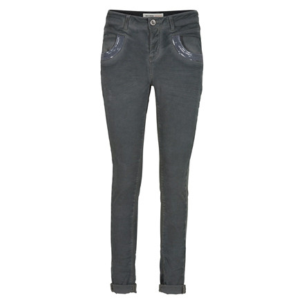 MOS MOSH JEANS - NAOMI GLAM DYED STEEL GREY