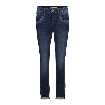 MOS MOSH JEANS -  MARLEY NAOMI STITCH 480 DARK BLUE DENIM
