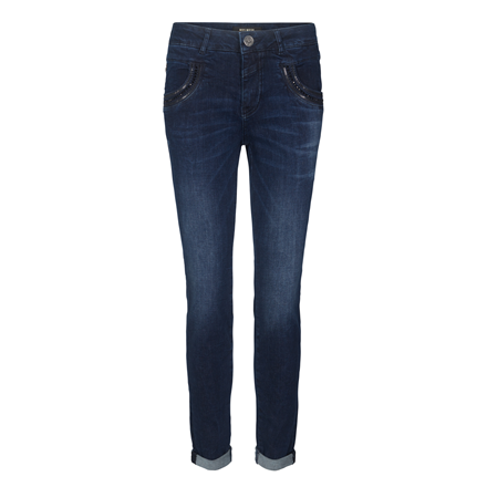 MOS MOSH JEANS - NAOMI SHINE DARK BLUE DENIM