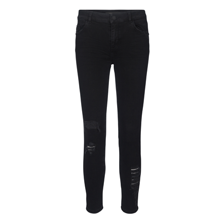 MOS MOSH JEANS - SUMNER RIPPED BLACK DENIM