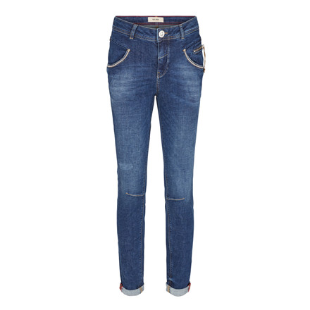 MOS MOSH JEANS - NELLY BLOCK BLUE DENIM