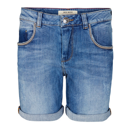 MOS MOSH SHORTS - BRADFORD BLOCK LIGHT BLUE