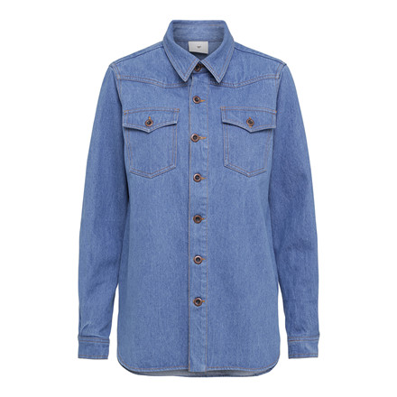 JULIE FAGERHOLT - HEARTMADE SKJORTE - JAVIS 203 LIGHT BLUE DENIM