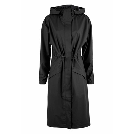 RAINS REGNJAKKE - 1238 NOON COAT BLACK