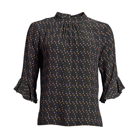 CO'COUTURE BLUSE - BECCA FLAKE NAVY