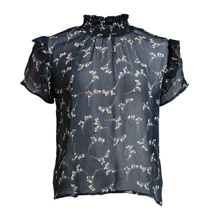 CO'COUTURE BLUSE - VIRGINIA BERRY NAVY