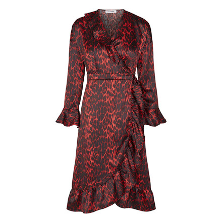 CO'COUTURE KJOLE - RED ANIMAL SATEEN FRILL