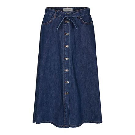 CO'COUTURE NEDERDEL - SANNA DENIM BUTTON