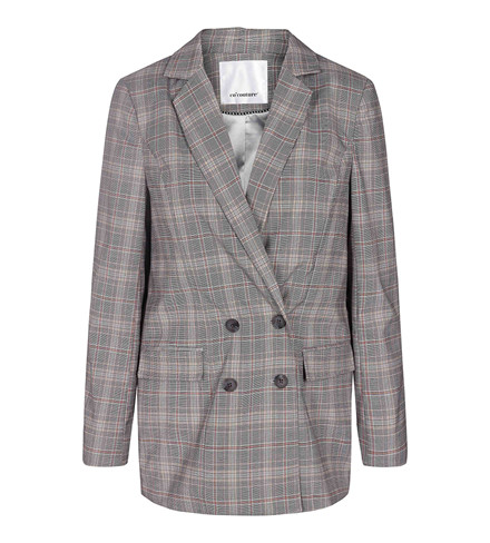 CO'COUTURE BLAZER - HOLLY CHECK MID GREY