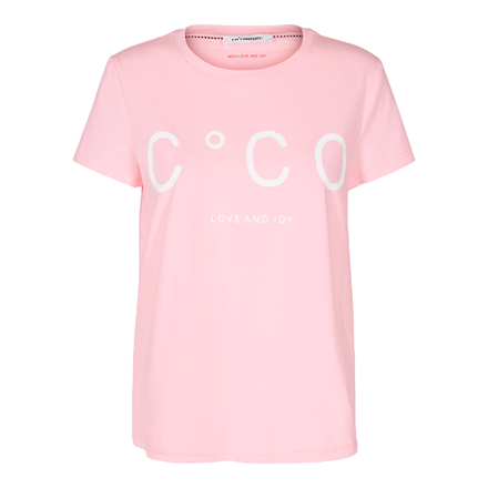 CO'COUTURE T-SHIRT - COCO SIGNATURE NUDE ROSE