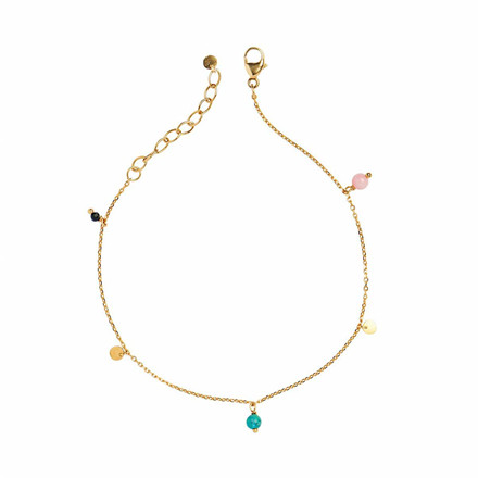STINE A ARMBÅND - 3003 PETIT COIN AND STONES GULD