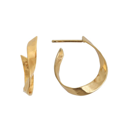 STINE A ØRERING - 1179 L TWISTED HAMMERED CREOL GULD