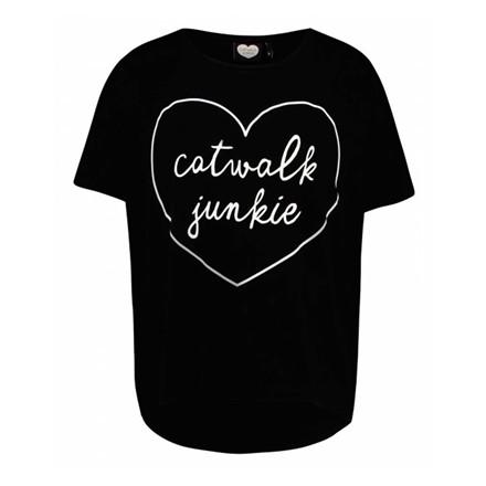 CATWALK JUNKIE T-SHIRT - BABE BLACK