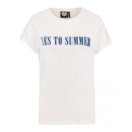 CATWALK JUNKIE T-SHIRT -  YES TO SUMMER OFF WHITE