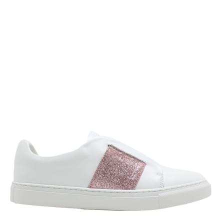 PHILIP HOG SNEAKERS - ELASTIC WHITE/DUSTY ROSE GLITTER