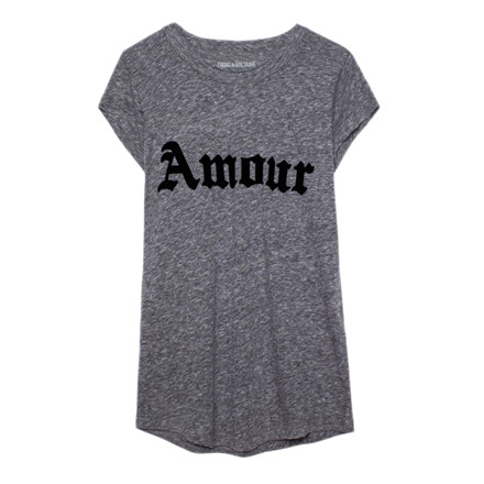 ZADIG & VOLTAIRE T-SHIRT - SKINNY OVERDYE AMOUR CHINE