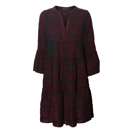 DEVOTION KJOLE - MIDI DRESS BORDEAUX