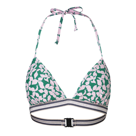 BECKSÖNDERGAARD BIKINI -  FLOURISH TOP PEPPER GREEN