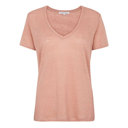 SECOND FEMALE T-SHIRT - PEONY V-NECK TUSCANY